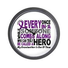 HERO Comes Along 1 Grandmother PC Wall Clock
