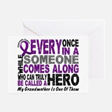 HERO Comes Along 1 Grandmother PC Greeting Card
