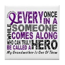HERO Comes Along 1 Grandmother PC Tile Coaster