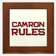 camron rules Framed Tile