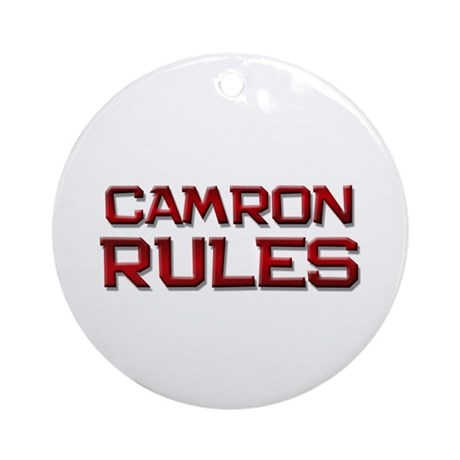 camron rules Ornament (Round)