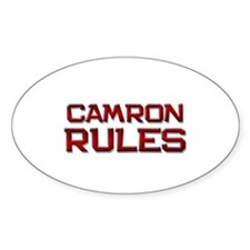 camron rules Oval Decal