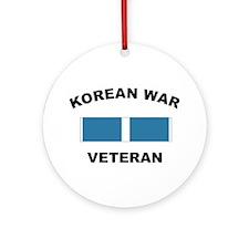 Korean War Veteran Ornament (Round)