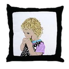 Peargirl Throw Pillow