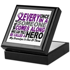 HERO Comes Along 1 Grandpa PC Keepsake Box