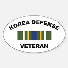 Korea Defense Veteran Oval Decal