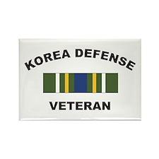 Korea Defense Veteran Rectangle Magnet