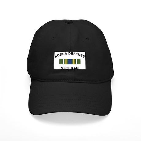 Korea Defense Veteran Black Cap