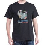 Sea Creatures Love You Dark T-Shirt