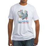Sea Creatures Love You Fitted T-Shirt