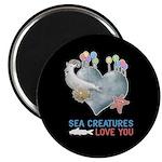 Sea Creatures Love You Magnet