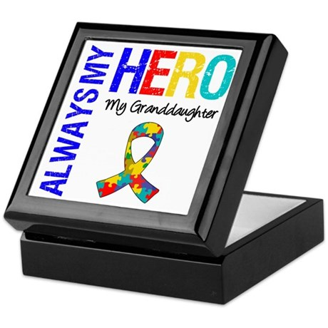 Autism Hero Granddaughter Keepsake Box