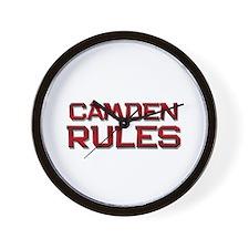 camden rules Wall Clock