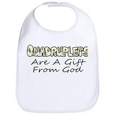 Quadruplets are a gift from God Bib
