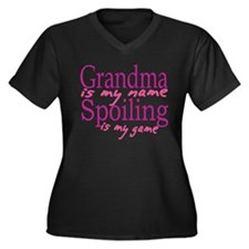 Grandma is my name Women's Plus Size V-Neck Dark T