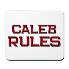 caleb rules Mousepad