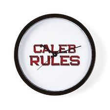 caleb rules Wall Clock