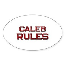 caleb rules Oval Decal