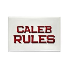 caleb rules Rectangle Magnet (10 pack)
