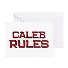 caleb rules Greeting Card