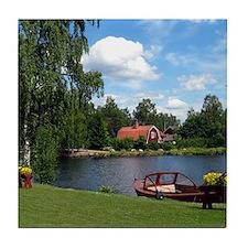 Sundborn Lake Scene Tile Coaster