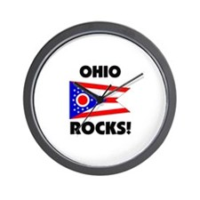Ohio Rocks Wall Clock