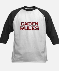 caiden rules Kids Baseball Jersey