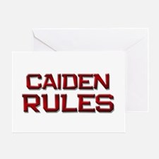 caiden rules Greeting Card