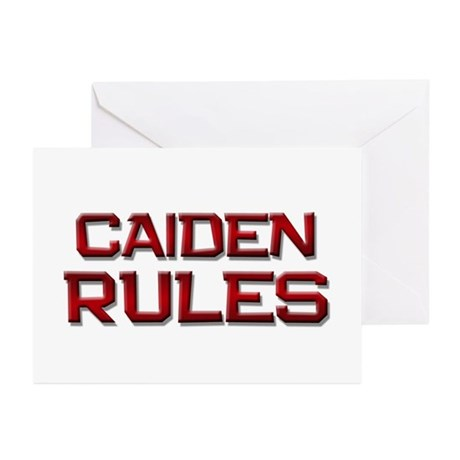caiden rules Greeting Cards (Pk of 10)