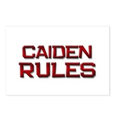 caiden rules Postcards (Package of 8)