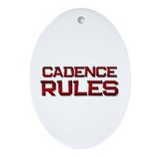 cadence rules Oval Ornament