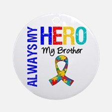 Autism Hero Brother Ornament (Round)