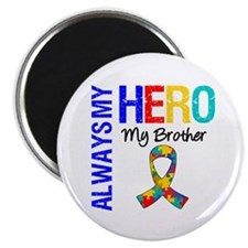 """Autism Hero Brother 2.25"""" Magnet (100 pack)"""