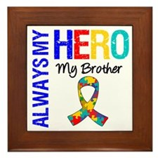 Autism Hero Brother Framed Tile