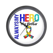 Autism Hero Brother Wall Clock