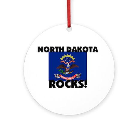 North Dakota Rocks Ornament (Round)
