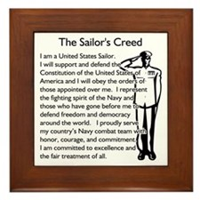 The Sailor's Creed - Navy Framed Tile