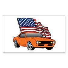 American Muscle Car Rectangle Sticker 10 pk)