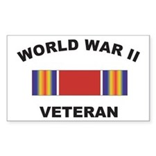 World War II Veteran Rectangle Decal