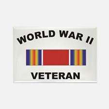 World War II Veteran Rectangle Magnet