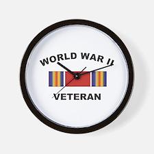 World War II Veteran Wall Clock