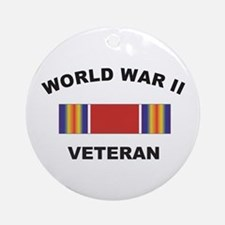World War II Veteran Ornament (Round)