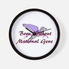 No Maternal Gene Wall Clock