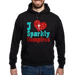 I Love Sparkly Vampires Hoodie (dark)