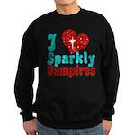 I Love Sparkly Vampires Sweatshirt (dark)
