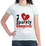 I Love Sparkly Vampires Jr. Ringer T-Shirt