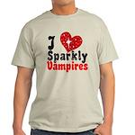 I Love Sparkly Vampires Light T-Shirt