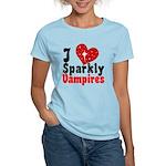I Love Sparkly Vampires Women's Light T-Shirt