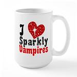 I Love Sparkly Vampires Large Mug