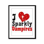 I Love Sparkly Vampires Framed Panel Print
